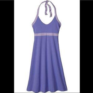 Patagonia Iliana halter dress violet blue large